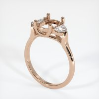 18K Rose Gold Ring Setting - JS447R18