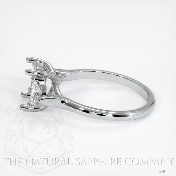 Trellis Three-Stone Ring Setting - Half Moon Diamonds JS447 Image 3