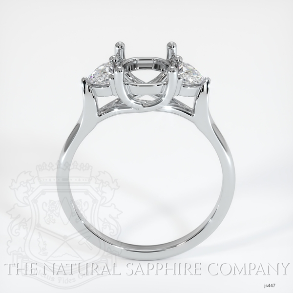 Trellis Three-Stone Ring Setting - Half Moon Diamonds JS447 Image 4