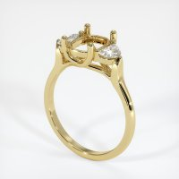 18K Yellow Gold Ring Setting - JS447Y18