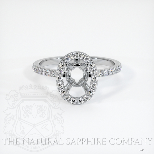 Scoop Cut Pave Diamond Halo Setting JS45 Image 2