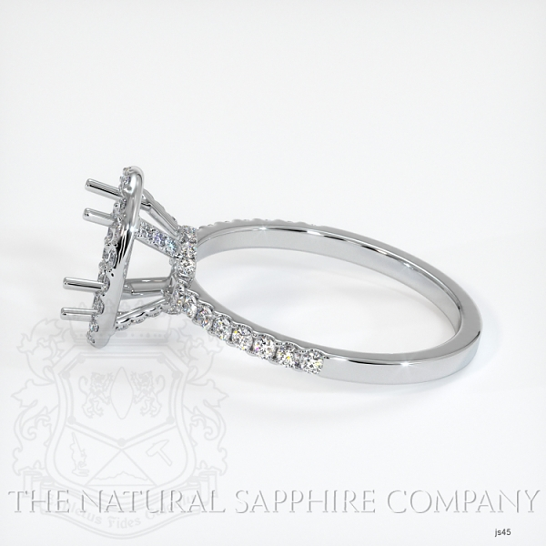 Scoop Cut Pave Diamond Halo Setting JS45 Image 3