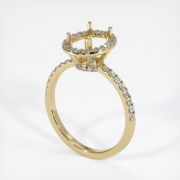 14K Yellow Gold Pave Diamond Ring Setting - JS45Y14