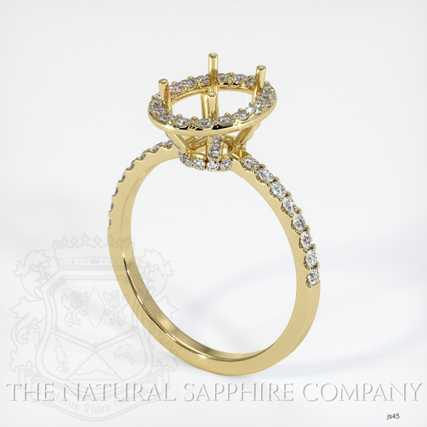 Scoop Cut Pave Diamond Halo Setting JS45 Image