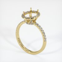 18K Yellow Gold Pave Diamond Ring Setting - JS45Y18