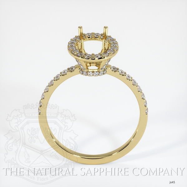 Scoop Cut Pave Diamond Halo Setting JS45 Image 4