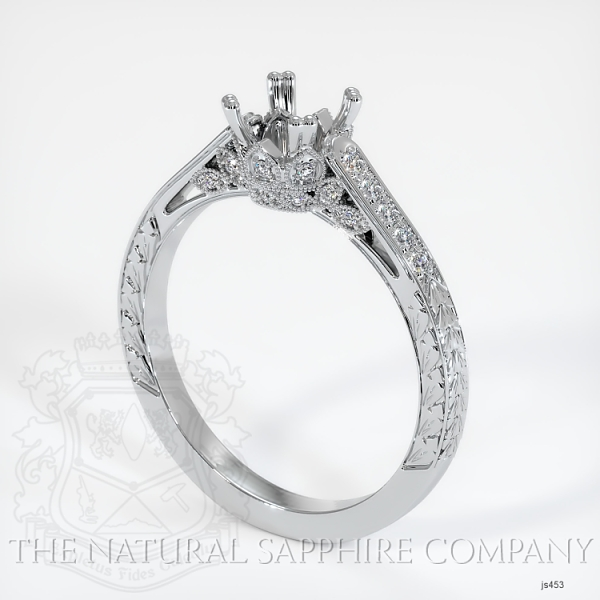 Antique Style 4 Prongs Pave Ring Setting JS453 Image