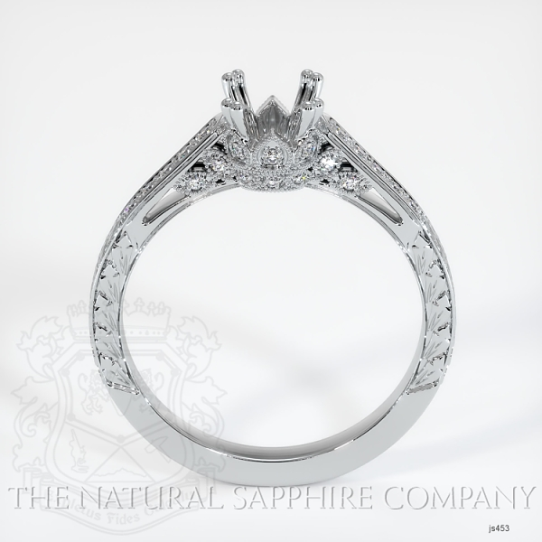 Antique Style 4 Prongs Pave Ring Setting JS453 Image 4
