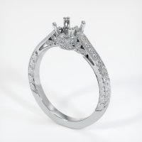 18K White Gold Pave Diamond Ring Setting - JS453W18