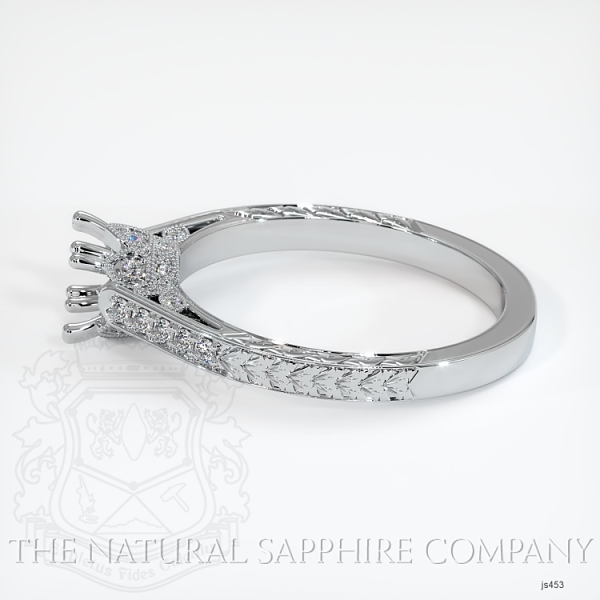 Antique Style 4 Prongs Pave Ring Setting JS453 Image 3