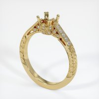 14K Yellow Gold Pave Diamond Ring Setting - JS453Y14