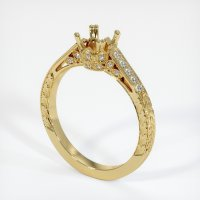 18K Yellow Gold Pave Diamond Ring Setting - JS453Y18