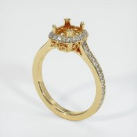 14K Yellow Gold Pave Diamond Ring Setting - JS454Y14