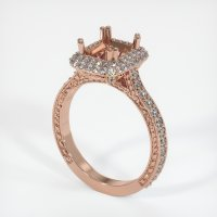 14K Rose Gold Pave Diamond Ring Setting - JS455R14