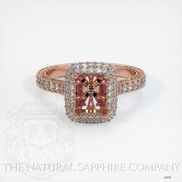 Antique Style Pave Ring Setting JS455 Image 2