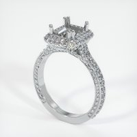 18K White Gold Pave Diamond Ring Setting - JS455W18