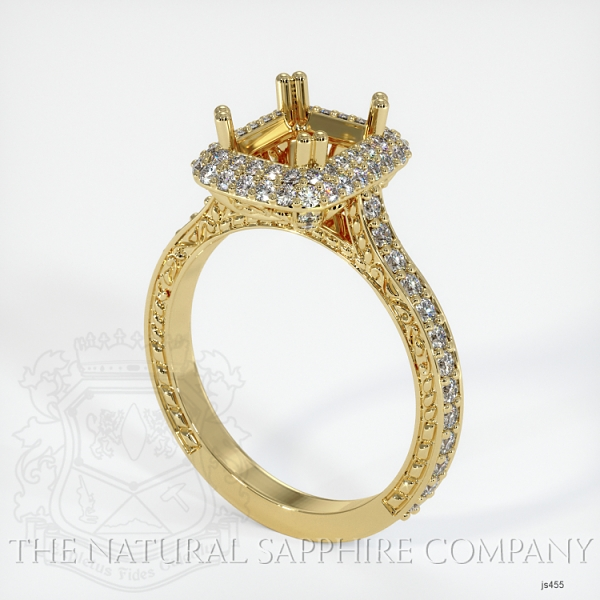 Antique Style Pave Ring Setting JS455 Image