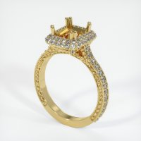 18K Yellow Gold Pave Diamond Ring Setting - JS455Y18