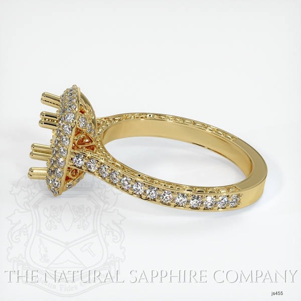 Antique Style Pave Ring Setting JS455 Image 3