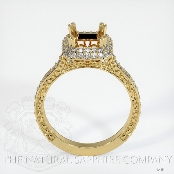 Antique Style Pave Ring Setting JS455 Image 4