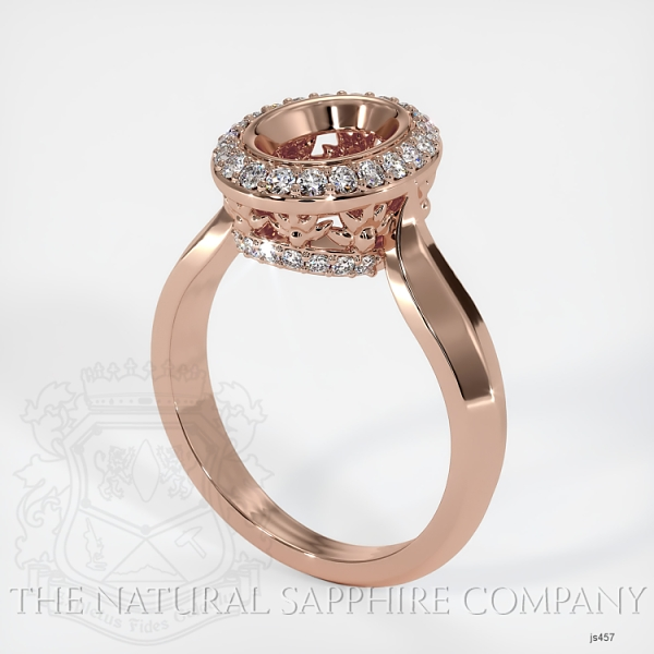 Bezel Set Pave Ring Setting JS457 Image