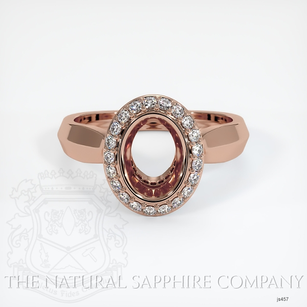 Bezel Set Pave Ring Setting JS457 Image 2