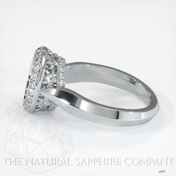 Bezel Set Pave Ring Setting JS457 Image 3