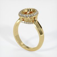 18K Yellow Gold Pave Diamond Ring Setting - JS457Y18