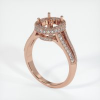 14K Rose Gold Pave Diamond Ring Setting - JS46R14
