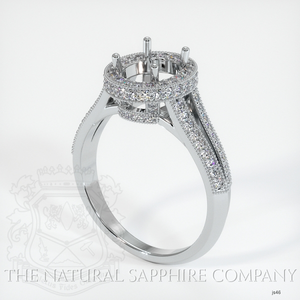 Split Shank Pave Diamond Halo Ring Setting JS46 Image