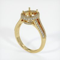 18K Yellow Gold Pave Diamond Ring Setting - JS46Y18