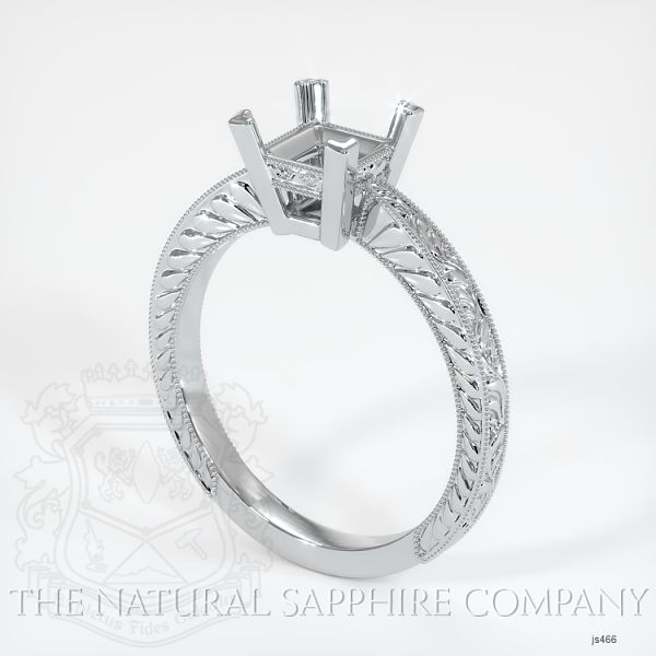 Antique 4 Prong Solitaire Ring Setting JS466 Image