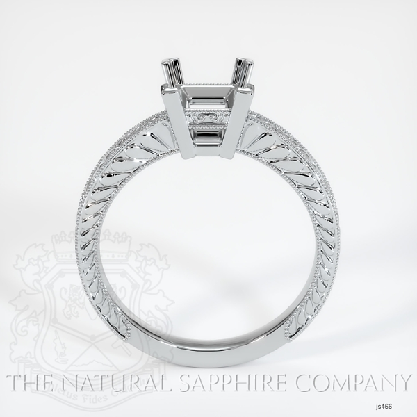 Antique 4 Prong Solitaire Ring Setting JS466 Image 4