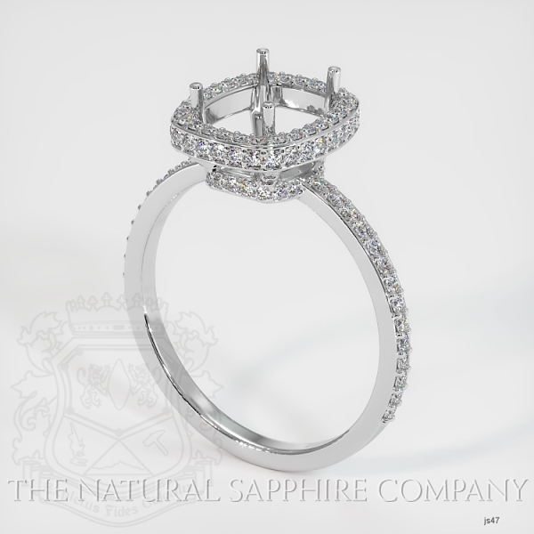 4 Prongs Pave Ring Setting JS47 Image