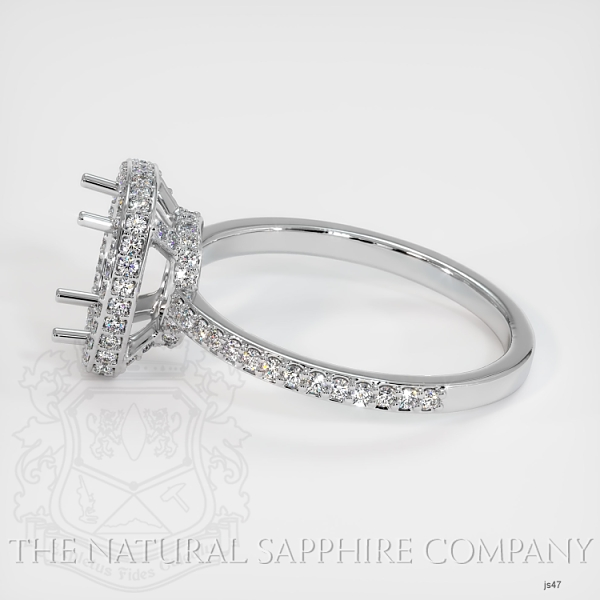 4 Prongs Pave Ring Setting JS47 Image 3