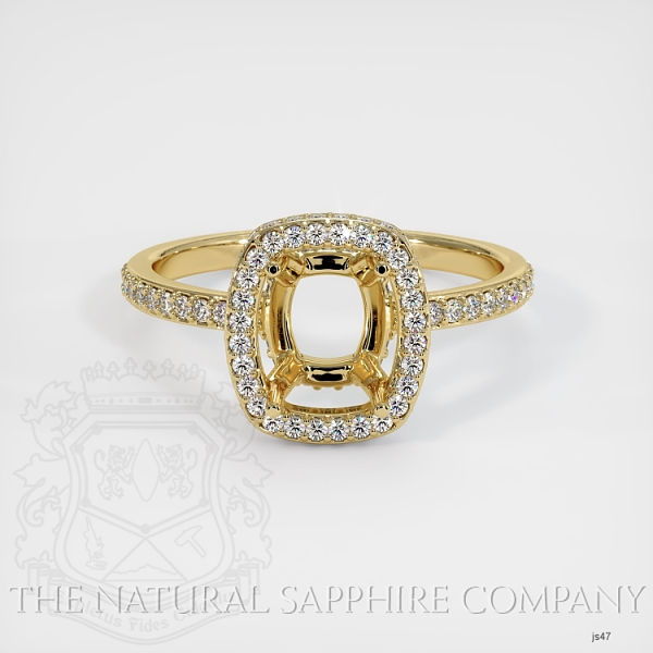 4 Prongs Pave Ring Setting JS47 Image 2