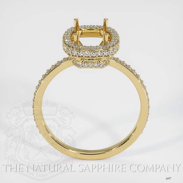 4 Prongs Pave Ring Setting JS47 Image 4