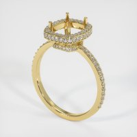 18K Yellow Gold Pave Diamond Ring Setting - JS47Y18