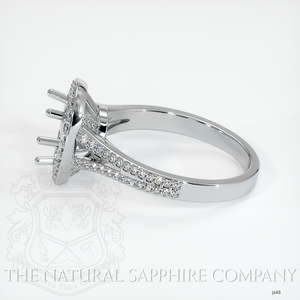 4 Prong Pave Ring Setting JS48 Image 3