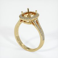 14K Yellow Gold Pave Diamond Ring Setting - JS48Y14