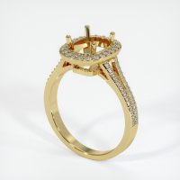 18K Yellow Gold Pave Diamond Ring Setting - JS48Y18