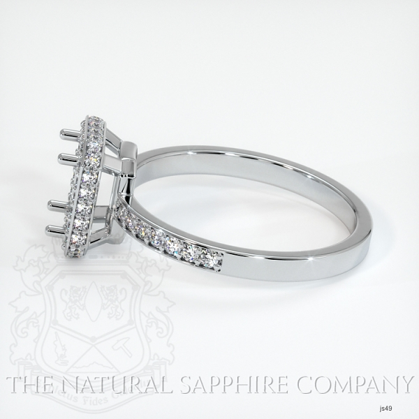 4 Prong Pave Ring Setting JS49 Image 3