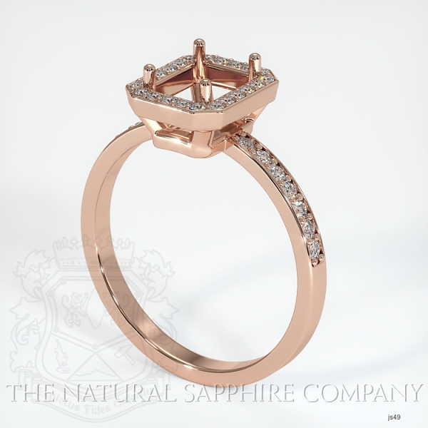 4 Prong Pave Ring Setting JS49 Image