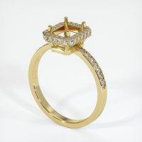 18K Yellow Gold Pave Diamond Ring Setting - JS49Y18