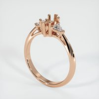 18K Rose Gold Ring Setting - JS490R18