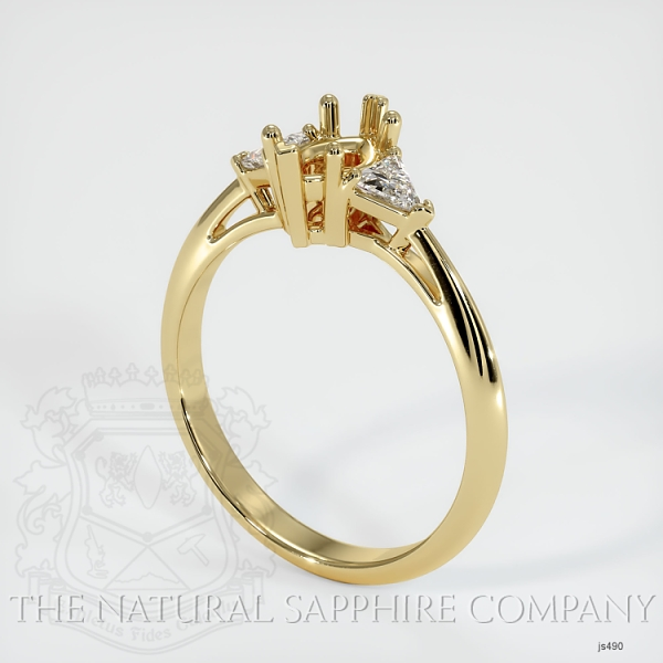 Three Stone Ring Setting - Trillion Diamonds JS490 Image