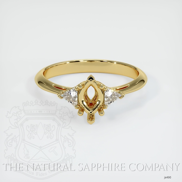 Three Stone Ring Setting - Trillion Diamonds JS490 Image 2