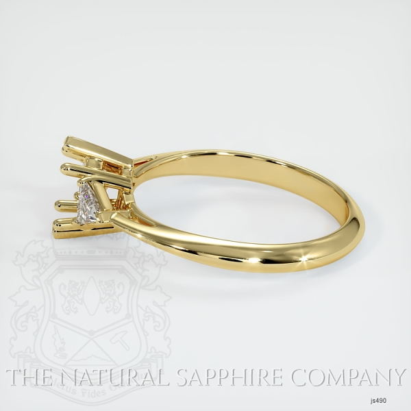 Three Stone Ring Setting - Trillion Diamonds JS490 Image 3