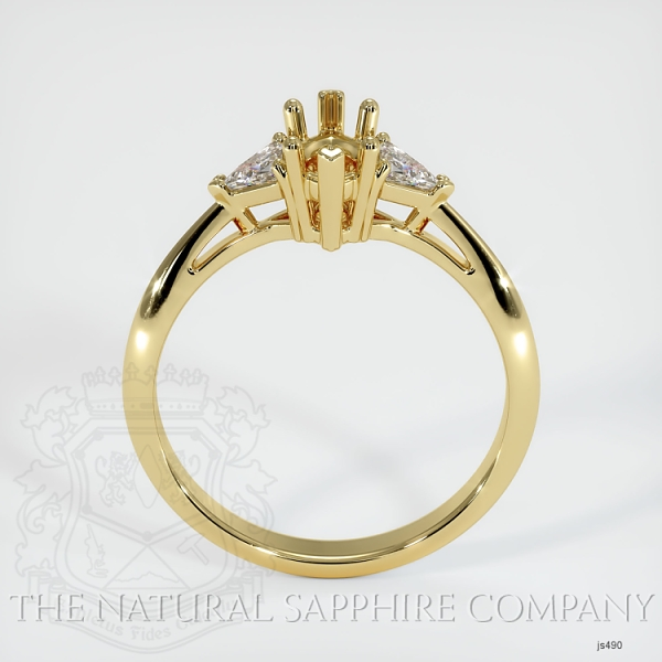 Three Stone Ring Setting - Trillion Diamonds JS490 Image 4