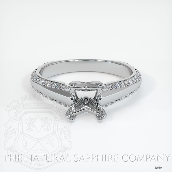 4 Prong Pave Ring Setting JS519 Image 2